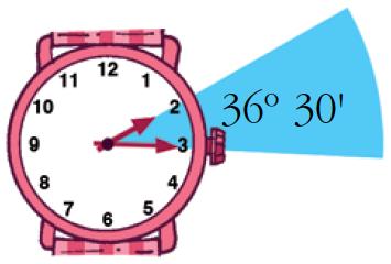 Resultado de imagen de reloj y angulos